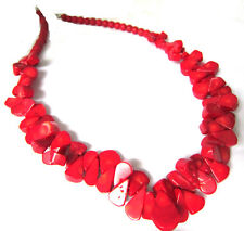 2017 Fashion Huge Handmade Multi Red Real Coral Bead Women Necklace Fine Jewelry