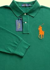 New Polo Ralph Lauren Hunter Green Long Sleeve Big Pony Mesh Polo Shirt / 3XLT
