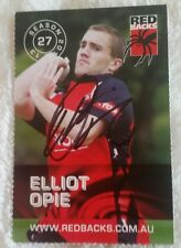 ELLIOT OPIE CRICKET SIGNED IN PERSON REDBACKS CARD CA BBL ATTAX STRIKERS