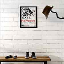 White Brick Wallpaper 3D Textured Embossed Industrial / French
