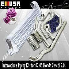 Intercooler+Pipings+Silicones+Clamps+BOV for 02-05 Civic Si/TypeR 2.0 K20A EP3