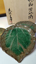 Beautiful Japanese Set of 5 Plates for Sushi/multi server Signed with wooden box