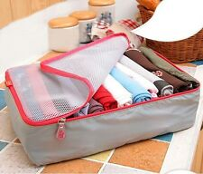 3Pcs/Set Clothes Storage Bags Packing Cube Travel Luggage Organizer Waterproof