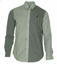Ralph Lauren Mens Patchwork Poplin Long Sleeve Button Down Shirt Black Small $99