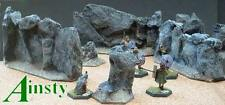 Miniature Unpainted 12cm Hex Rock Wall  Ainsty Dwarven Forge D&D