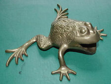 LARGE OLD BRASS FROG or TOAD STATUETTE OKIMONO, VGC, Japanese / Asian / Chinese?