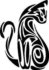 Tribal Cat Kitty Graphic Decal Sticker - Right Facing