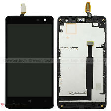Black LCD Display Touch Screen Digitizer Assembly+Frame For Nokia Lumia 625