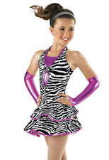 NEW 'Give a Little' Tap Jazz Dance Zebra Competition Costume 4PC Adult Large AL