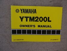 1983 Yamaha ATV Motorcycle YTM200L Owner Manual Off Road Operation Features  T