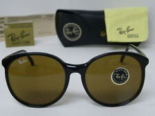 Vintage B&L Ray Ban Traditionals Round W0348 Black B-15 Brown Sunglasses WO 348