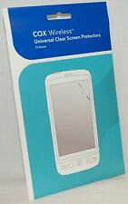 "NEW Cox Wireless 4x3"" Universal Clear LCD Screen Protector Phone/GPS/Camera/PSP"