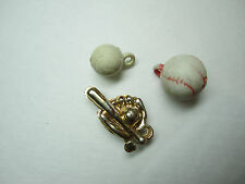 RARE 1950 Baseball Brooklyn Dodgers LOT Gumball Vending Machine 3 Charms Prizes