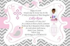 20 Personalised Girls Pink First , 1st Holy Communion Invitations / Invite ZP