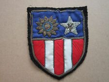 US Army CBI China Burma India Bullion Wire Woven Cloth Patch Badge