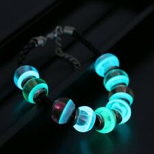 Magic Glow In The Dark Murano Glass Beads Charms Bracelet Woman Party Jewelry