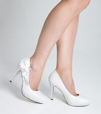 Wedding Shoes Bridal Evening High Heel Ladies Shoes - White - Size 5 UK  Seconds