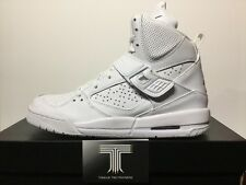 Nike Air Jordan Flight 45 High BG ~ Triple White ~ 524865 100 ~ U.K. Size 5.5