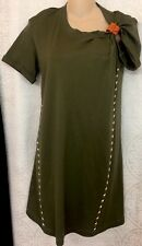 Louis Vuitton Dress Olive Cot/ Leather Strap  Silver And Gold Studs NWT Size Xs