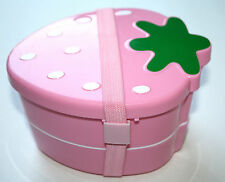STRAWBERRY PINK JAPANESE BENTO LUNCH BOX WITH BAND  **US SELLER***