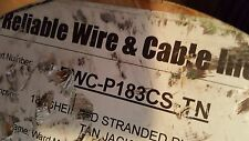 Reliable Wire&Cable RWC-P183CS-TN 18/3C Plenum Shielded Control Cable Tan/40ft