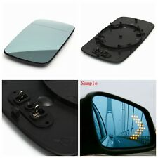 Right Blue Heated Wing Mirror Glass W/ Backing Plate For BMW 3 Series E46 98-05
