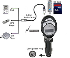 Wireless Car Audio Transmitter With IR Remote + USB SD Card Input For MP3 iPod