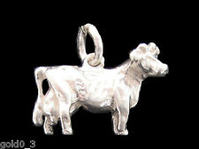 Jersey cow charm Sterling silver 925 charmmakers 3D