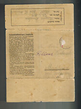 1944 Germany Auschwitz Concentration Camp KZ Cover Stanislaus Kidawka