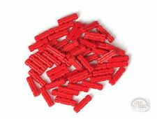 LEGO Technic - 2L Axle w/ Notches x 50 - Red - New - (EV3, NXT, Connector)