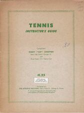 1953 TENNIS INSTRUCTOR'S GUIDE BY HARRY CAP LEIGHTON FREE SHIPPING IN THE USA