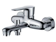 Modern Design Wall Mounted Bath Filler Shower Mixer Tap - Chrome Finish