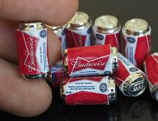 Dollhouse Miniature 10 Budweiser Beer Can Drink Beverages Food Supply Decorating