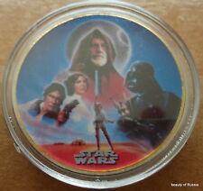 STAR WARS  Hollywood    24K GOLD plated coin  40 mm  #7