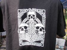 amon amarth skull  thors hammer long sleeve t shirt black lrg. slayer metal