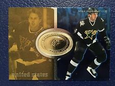 1998-99 Spx Finite RADIANCE #109  Mike Modano Global Impact Serial #d/3475  NM/M