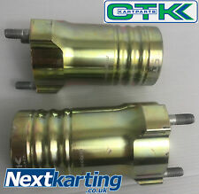 Set Of 2 Kart Tony Kart Front Hub 115mm - Complete HST Magnesium - OTK Genuine