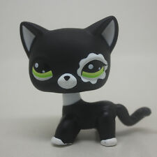 #2249 Littlest Pet Shop RARE Black Short Hair Cat Standing loose kitty LPS