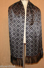Authentic Stefano Ricci 100% Silk Mens Geometric Print NWT Black Reverse