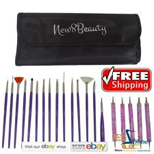 Nail Design Salon Art Supplies Brushes Polish Tools 20 pcs Valentines Gifts Her