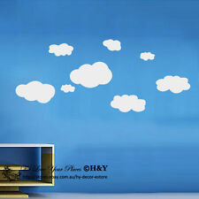 Large Clouds Removable Wall Stickers Kids Nursery Wall Decals Art Mural Decor AU