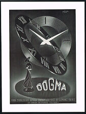 1950's Vintage 1952 Dogma Watch Co. Mid Century Modern Modernist Art Print AD