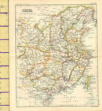 c1887 MAP ~ CHINA ~ QUEI CHOW HOO NAN FOKIEN TAIWAN