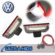 Sous la porte rouge blanc puddle lights vw golf MK5 MK6 jetta passat cc touran skoda