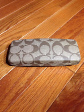 COACH EYE GLASSES CASE or SUN GLASSES - CC SIGNATURE PATTERN -  SLIM for READERS