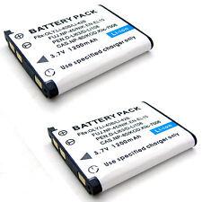 2x Battery for CASIO EXILIM EX-ZS5 EX-ZS6 Hi-ZOOM EX-H5 QV-R100 QV-R200 QV-R300