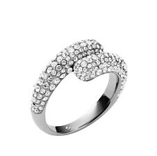 MKJ3681 Michael Kors Brilliance Statement Ring Silver Tone Crystal Pave Size 6