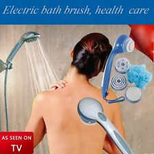 As Seen on TV Spin Spa Body Brush with Attachments Long-handled