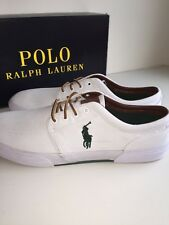 NEW! Polo Ralph Lauren Shoes Men's Size 16 White W/ Green Casual Sneakers