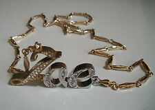 Silver/Gold finish hip hop bling Assorted  initial fashion jewelry with chain